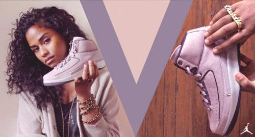 The Multitalented Vashtie Kola, Holding The Violet Sneaker She Designed For Jordan!